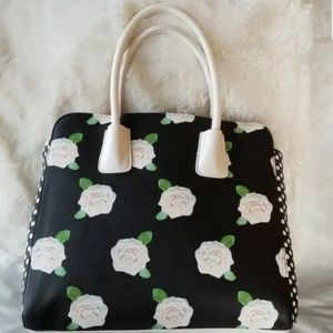 Betsey Johnson Bags - Betsey Johnson Floral Bow Satchel Bag NEW